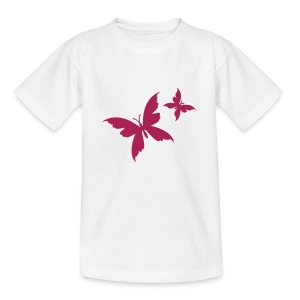 Motive-Kinder-Shirt, Schmetterling - Teenager T-Shirt