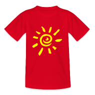 T-Shirts ~ Teenager T-Shirt ~ Motive-Kinder-Shirt, Sonne