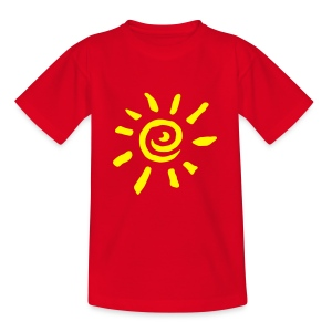 Motive-Kinder-Shirt, Sonne - Teenager T-Shirt