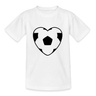 T-Shirts ~ Teenager T-Shirt ~ Motive-Kinder-Shirt, Fussballherz