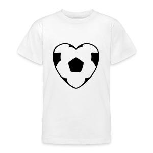 Motive-Kinder-Shirt, Fussballherz - Teenager T-Shirt
