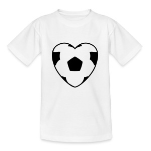 Motive-Kinder-Shirt, Fussballherz - Teenager T-Shirt