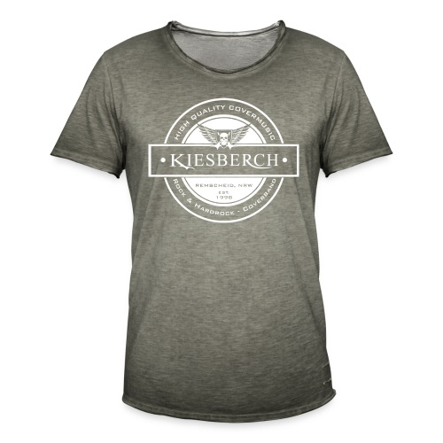 KIESBERCH HQ Covermusic / K-Wings, T-Shirt Men Vintage, Aufdruck weiß - Männer Vintage T-Shirt