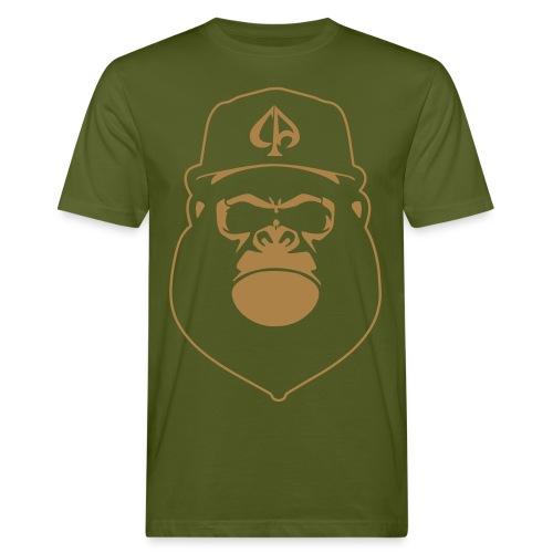 Moosgrün/Braun - Männer Bio-T-Shirt