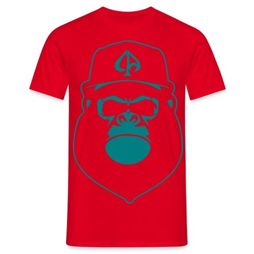 Red/Darkgreen - Männer T-Shirt