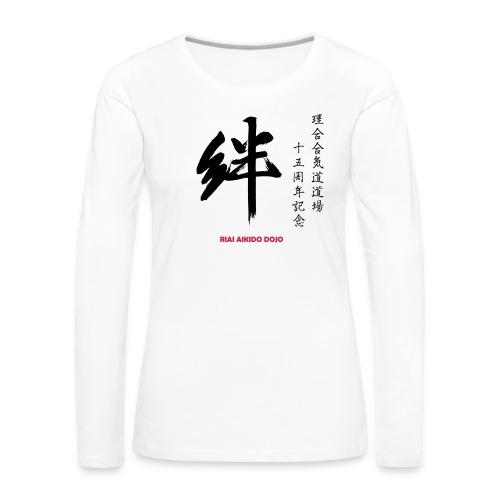 Riai 15 år vit dam - Långärmad premium-T-shirt dam