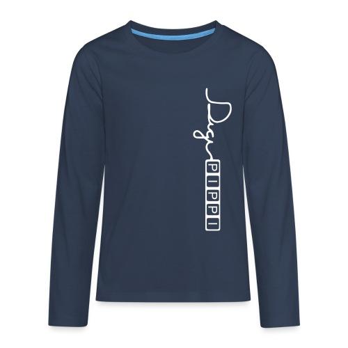 Teenager premium T-shirt med lange ærmer