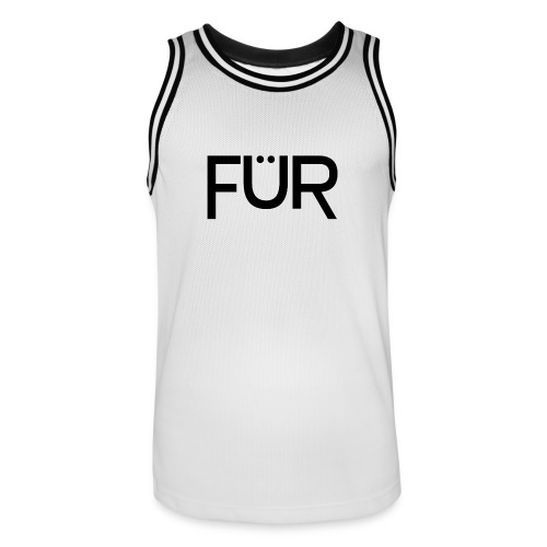FÜR Magazine Men's Basketballshirt Black On White - Men's Basketball Jersey