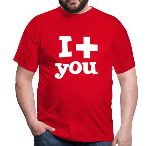 Herren-T-Shirt  |  I love you  - Männer T-Shirt