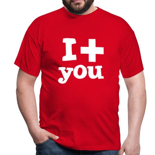 Herren-T-Shirt  |  I love you  - Männer T-Shirt