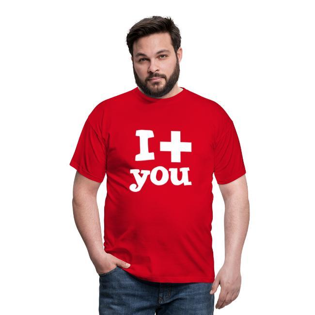 Herren-T-Shirt     I love you