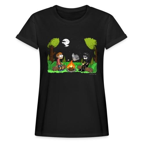 T-Shirt Frauen Lagerfeuer (weiter, offener, luftiger) - Frauen Oversize T-Shirt