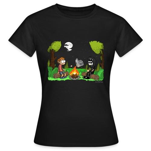 T-Shirt Frauen Lagerfeuer (eng) - Frauen T-Shirt