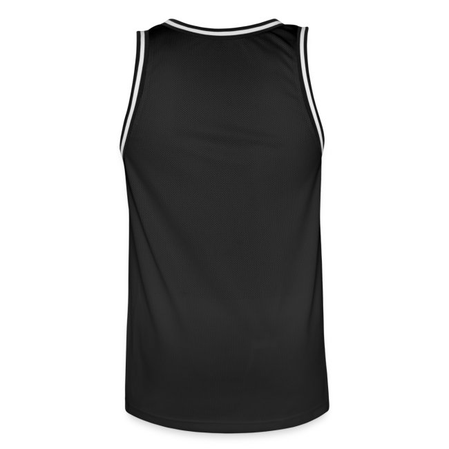 FÜR Magazine Men's Basketballshirt White On Black