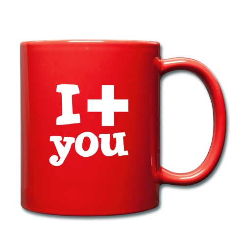 Tasse  |  I love you  - Tasse einfarbig