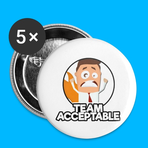 Team Acceptable Button Badge - Buttons large 56 mm