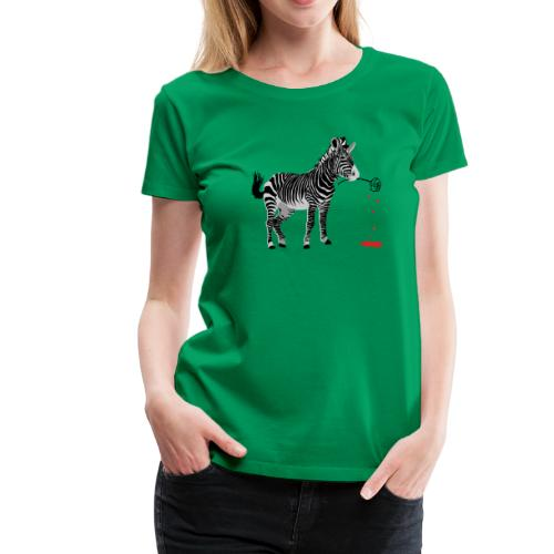 zebra rose - Women's Premium T-Shirt