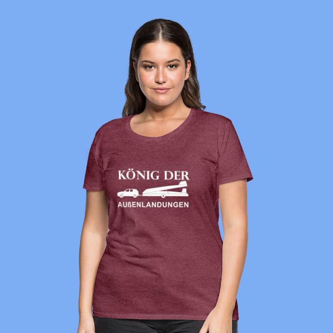 König der Außenlandung - Segelflieger T-Shirt Geschenk