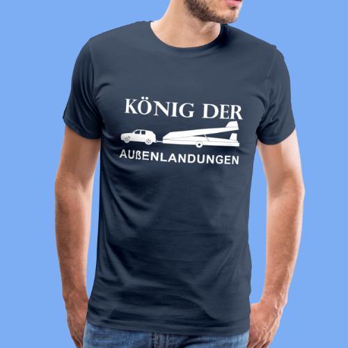 König der Außenlandung - Segelflieger T-Shirt Geschenk - Men's Premium T-Shirt