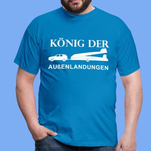 König der Außenlandung - Segelflieger T-Shirt Geschenk - Men's T-Shirt