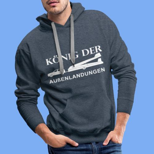 König der Außenlandung - Segelflieger Pullover Hoodie - Men's Premium Hoodie