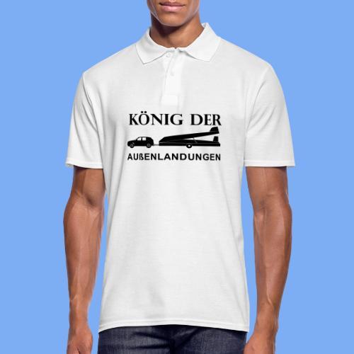 König der Außenlandung - Segelflieger Polohemd - Men's Polo Shirt