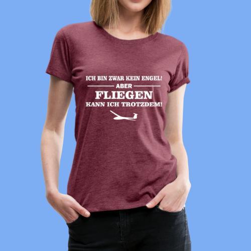 Segelflieger Geschenk Engel lustig T-Shirt - Women's Premium T-Shirt
