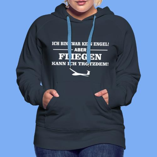 Segelflieger Geschenk Engel lustig Hoodie - Women's Premium Hoodie