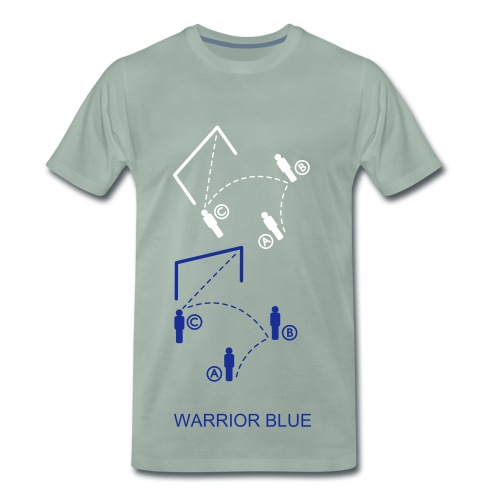 WARRIOR BLUE - T-shirt Premium Homme