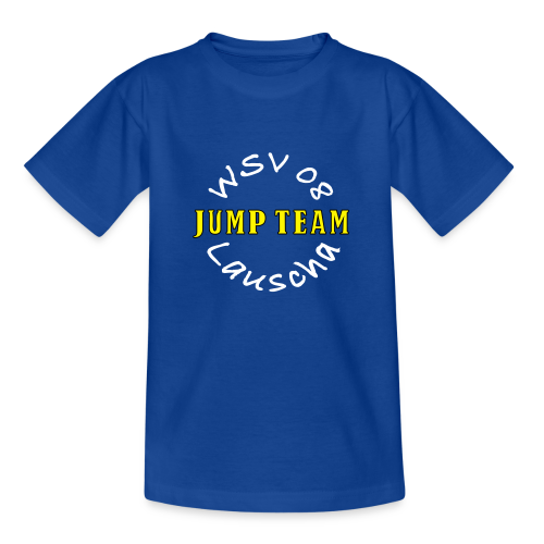 Kinder T-Shirt Jumpteam - Druck weiß/gelb - Kinder T-Shirt