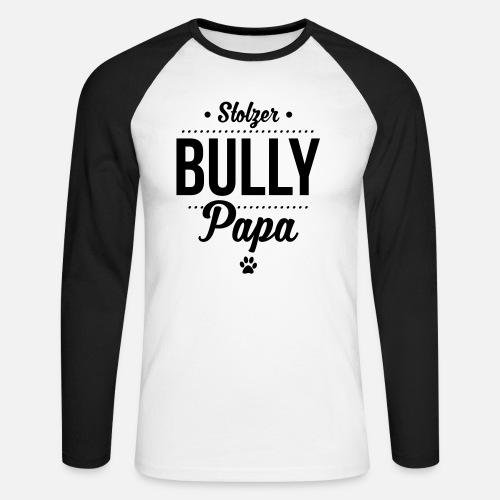 Stolzer Bullypapa Punkte - Männer Baseballshirt langarm
