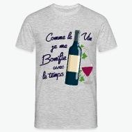 T-shirt Comme le vin - anniversaire gris chiné par Tshirt Family