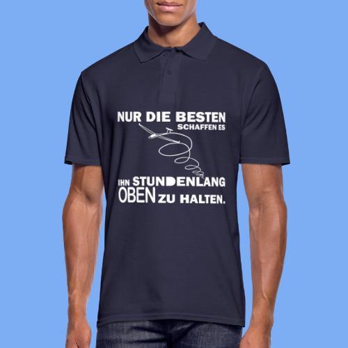 Segelflieger lustiger Spruch Geschenkidee - ihn oben halten - Men's Polo Shirt