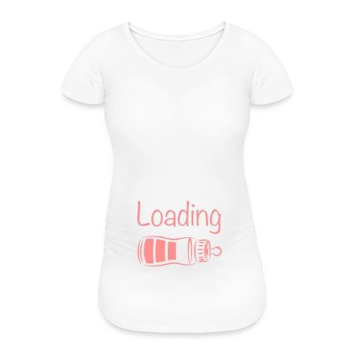 Zwangerschapsshirt: baby girl loading - Vrouwen zwangerschap-T-shirt
