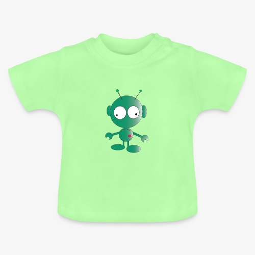 Cute green alien - Baby T-Shirt
