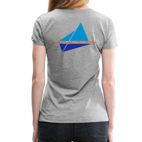 Crew-Shirt =AD=USUM= Grey/Frauen - Frauen Premium T-Shirt