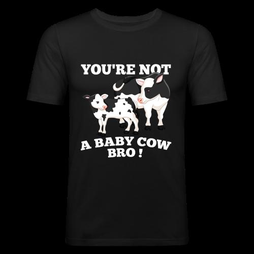 Baby Cow_Bro! Male Slim Fit - slim fit T-shirt