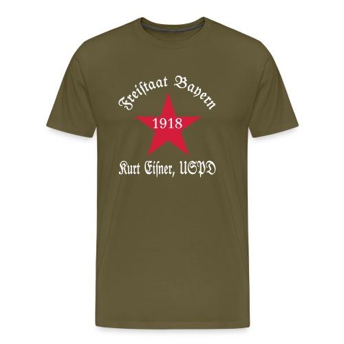 Kurt Eisner(USPD) 1918 - 100 Jahre Freistaat Bayern - Männer Premium T-Shirt
