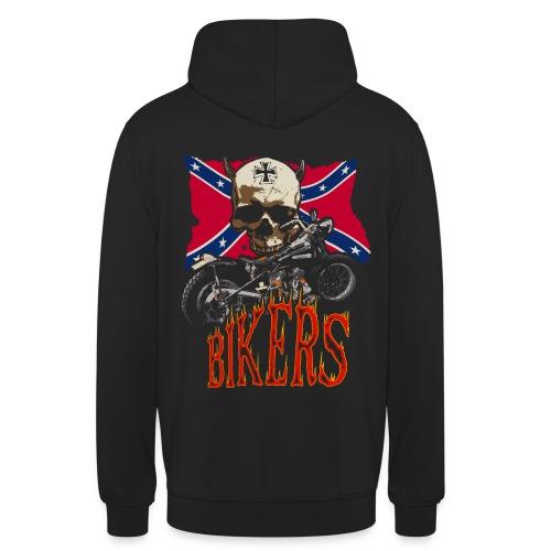 Biker's Symbols - Sweat-shirt à capuche unisexe