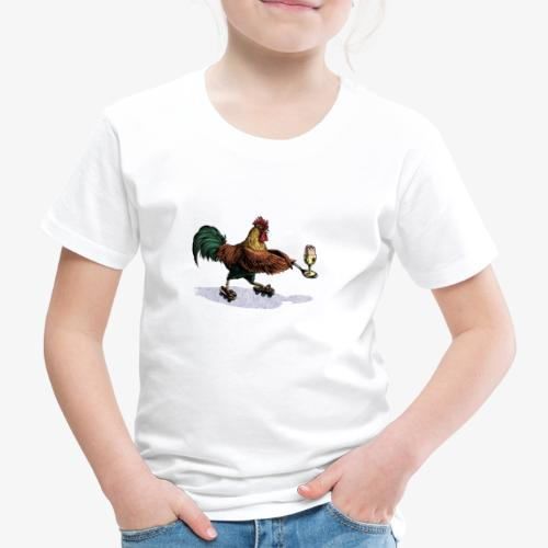 Cockerel Egg and Spoon - Kids' Premium T-Shirt