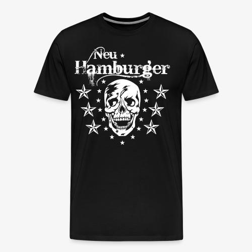 70 Neu-Hamburger Totenkopf Skull Männer T-Shirt - Männer Premium T-Shirt