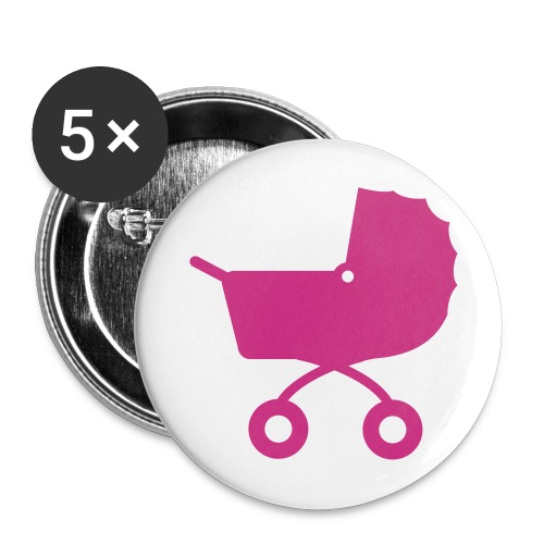meisje button - Buttons groot 56 mm (5-pack)