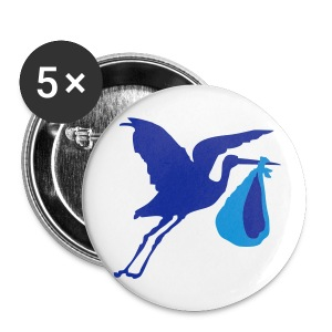 ooievaar jongen button - Buttons groot 56 mm