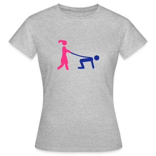 Tee-shirt Femme, homme tenue en laisse  - T-shirt Femme