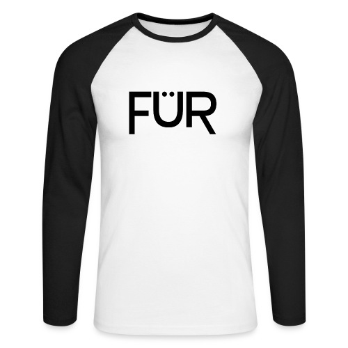 FÜR Magazine Men's Longsleeve Baseballshirt  - Men's Long Sleeve Baseball T-Shirt
