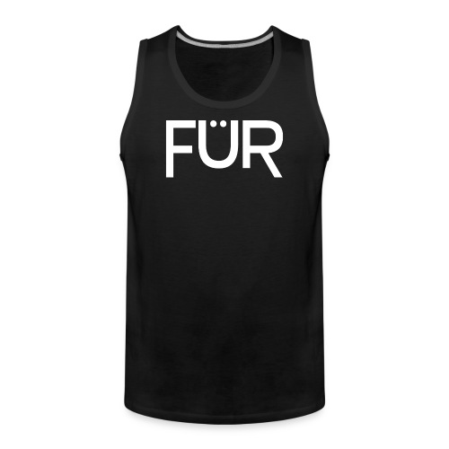 FÜR Magazine Men's Tank Top White On Black - Men's Premium Tank Top