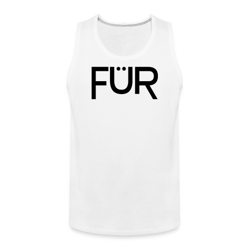 FÜR Magazine Men's Tank Top Black On White - Men's Premium Tank Top
