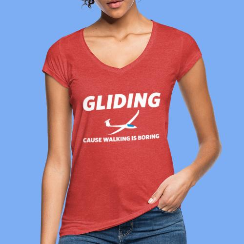 gliding, cause walking is boring - Women's Vintage T-Shirt