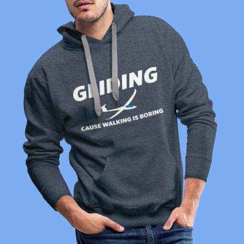 gliding, cause walking is boring - Men's Premium Hoodie