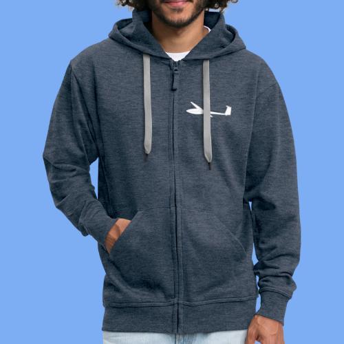 Segelflugzeug DG100 glider sailplane clothing apparel - Men's Premium Hooded Jacket